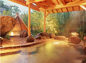 露天風呂(檜木の湯)