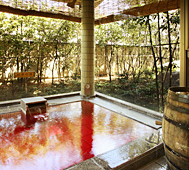 甲州ワイン風呂(水晶の湯)